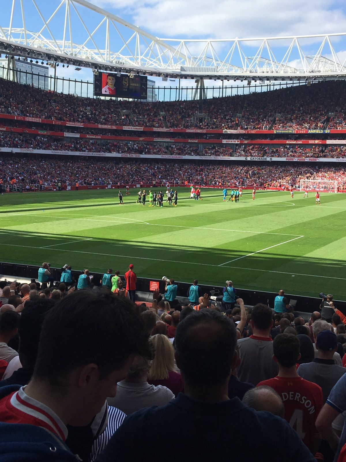 Arsenal v Liverpool 14-08-2016